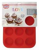 Dr Oetker Muffinvorm siliconen 12 gaats rood_