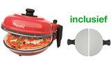 Optima Napoli Pizza Express steenoven rood incl. metalen pizza spatels_