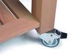 Butler Keukentrolley langshout M-900 detail wiel