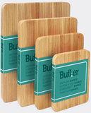 Butler Snijplank Bamboe 22x16,5x1,8cm overzicht
