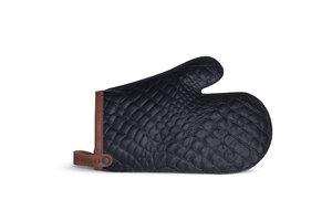 Ovenchef lederen ovenwant Aligator zwart