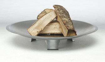 Bon-fire vuurschaal Deens ontwerp blank staal