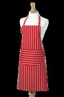 Classics Butchers schort lang rood wit gestreept
