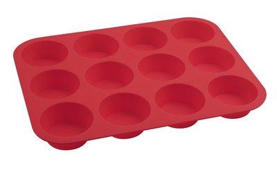 Dr Oetker Muffinvorm siliconen 12 gaats rood