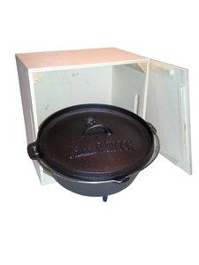 Valhal houten kist met losse deksel voor Dutch oven 3 - 5 - 8 Liter