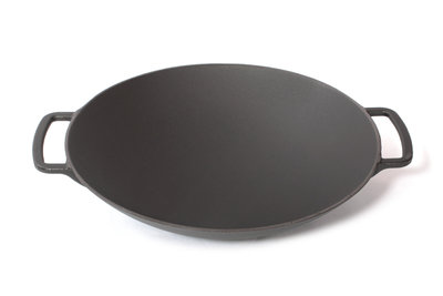Surel Wok gietijzer 35cm mat zwart